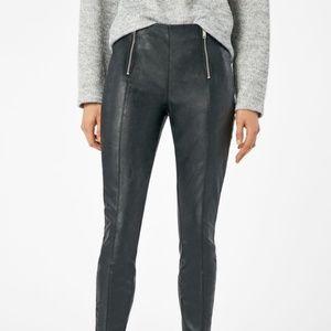 Pants - Slim leg motorcycle faux Leather Pants